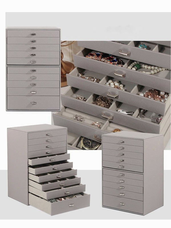 Perfect storage 10-Layers Large Jewelry Box Organizer