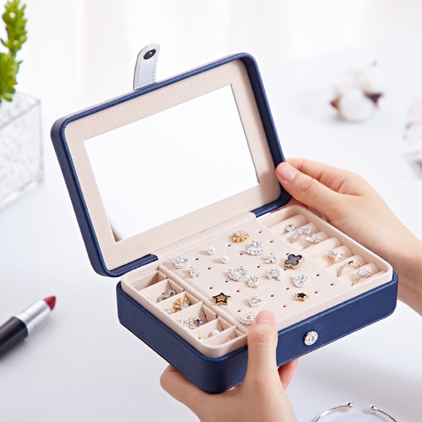 Luxury Jewelry Case Portable Jewelry Box for Jewellery Ring Necklace Earring - Nillishome