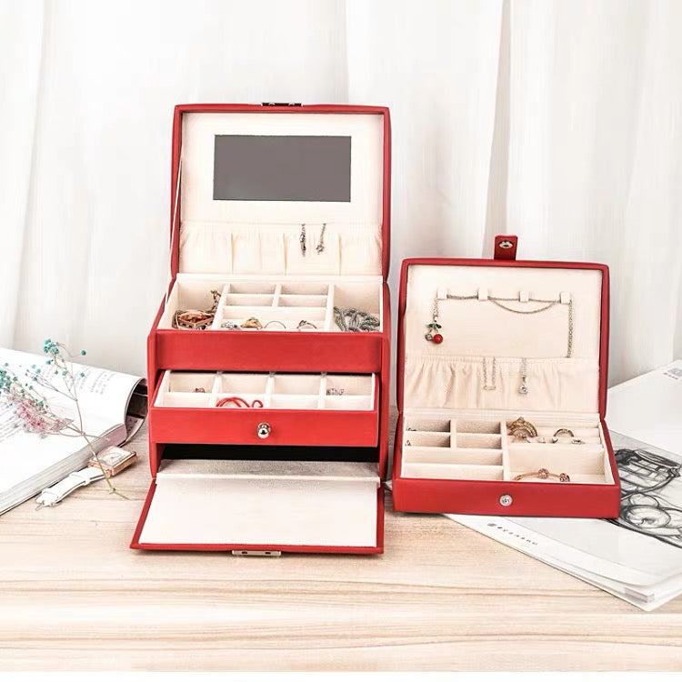 Jewelry Box With Lock included a portable jewelry case - Nillishome