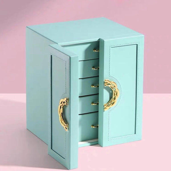 5 Drawers Large Jewelry Box Make Up Storage Case