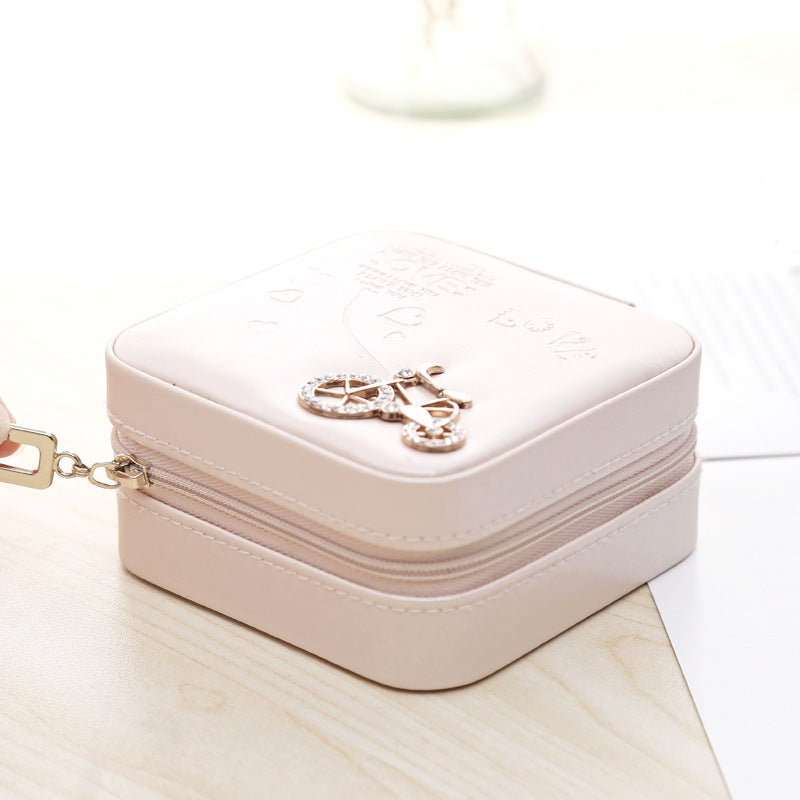 Portable Jewelry box Travel mini size jewelry organizer with Zipper - Nillishome