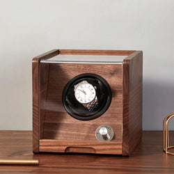 Automatic Wooden Watch Winder , Powered by Japanese Mabuchi Motor,Multiple adjustable modes