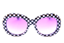 Bikini Beach | Gloss Checkered | Purple Fade Lens