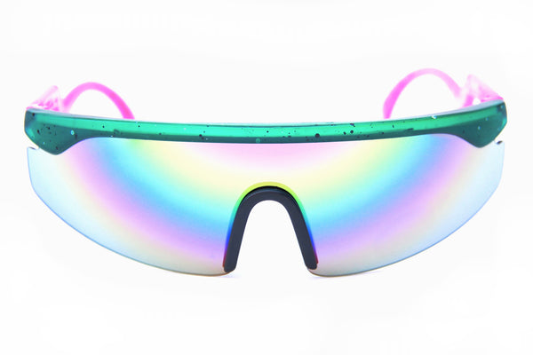 Accelerators | Green Black Splatter | Pink | Rainbow Mirror