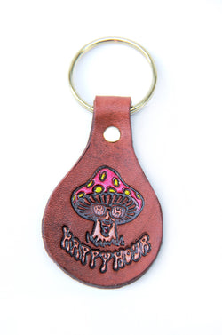 Wounded Knee X Happy Hour Trip Out Leather Keychain