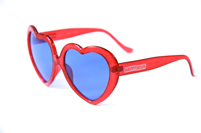 Heart Ons | Glitter Red
