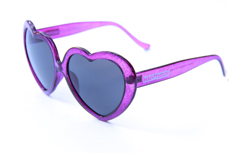 Heart Ons | Purple Sparkle
