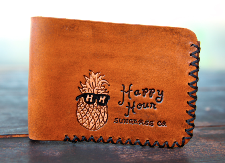Wounded Knee X Happy Hour Mr. Pineapple Leather Wallet