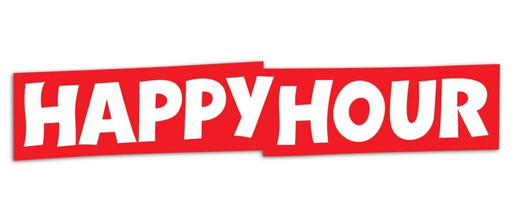 Sticker happy hour logo