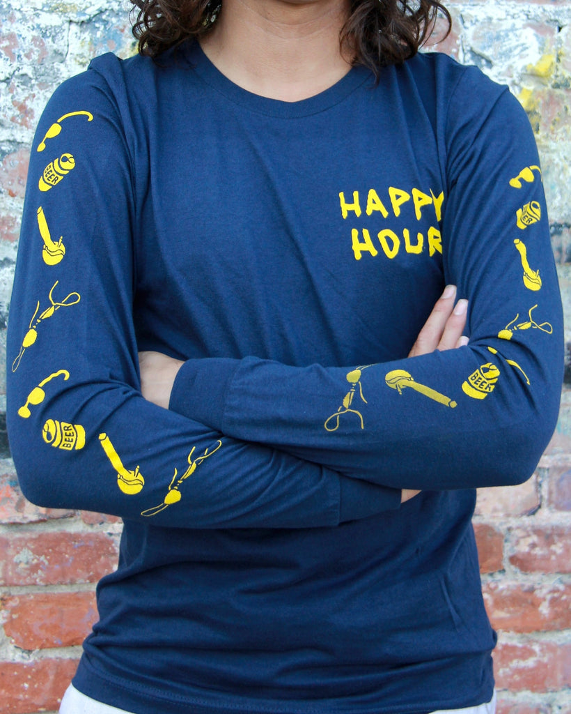 Party Marlin| Navy, Long Sleeve