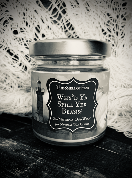 Why'd Ya Spill Yer Beans *Sea Minerals & Oud Wood * The Lighthouse Inspired * Natural Wax Blend