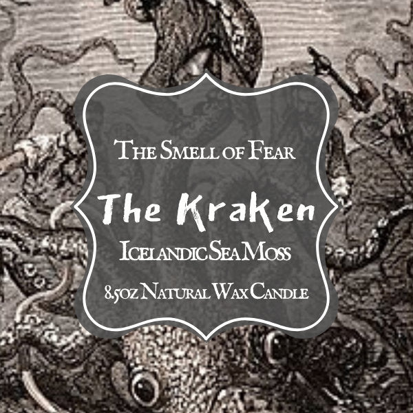 The Kraken Candle * Icelandic Sea Moss scent* Cryptid Inspired * Natural Wax Blend
