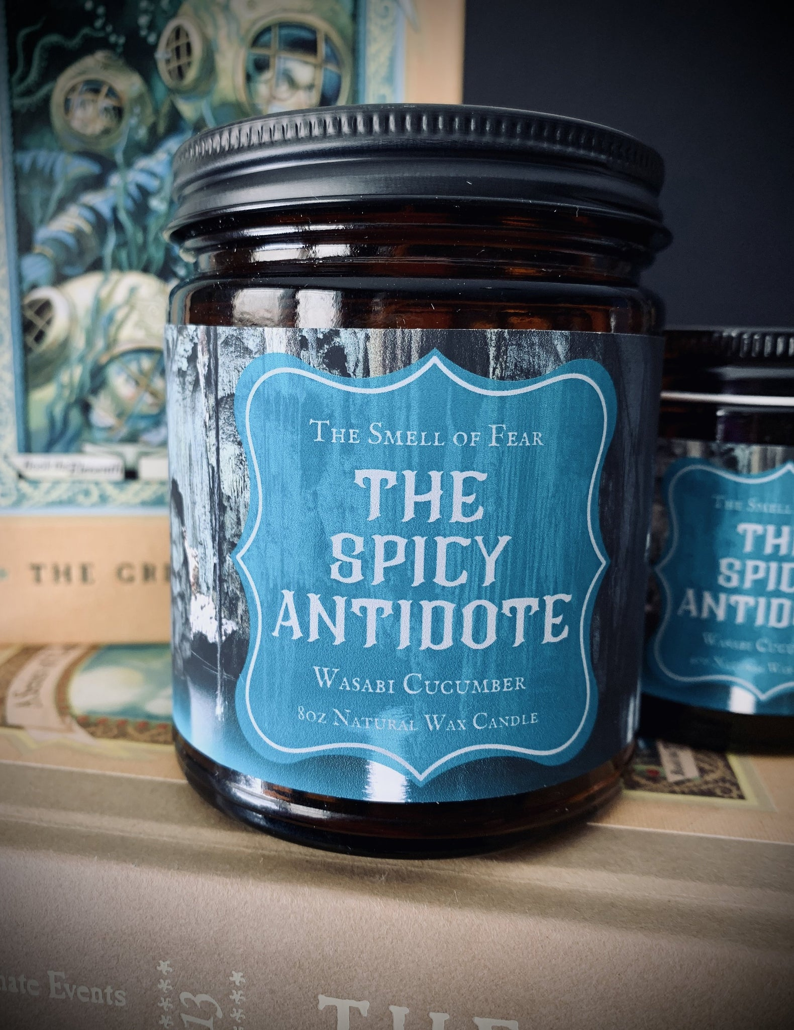 The Spicy Antidote * Cucumber/Wasabi Scent * Lemony Snicket Series Inspired * Natural Wax Blend