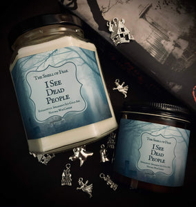I See Dead People Candle *Eucalyptus, Spearmint, Icy Cold Air Scent* Sixth Sense Inspired * Natural Wax Blend