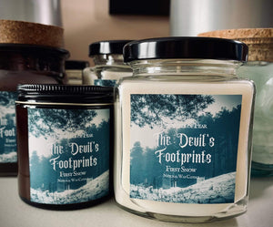 The Devil's Footprint Candle *First Snow Scent * Cryptid Inspired * Natural Wax Blend