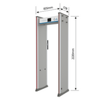 DEFENDER - Walkthrough Metal Detector with Infrared Temperature Detection and Face Detection Access Control System