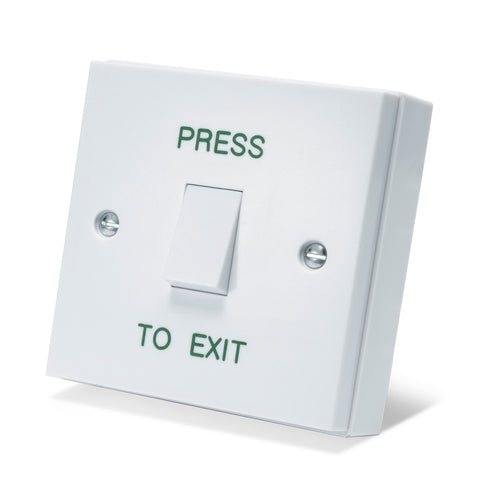 Standard White Plastic Light Switch PTE<br>(Model: DRB001N-PTE)