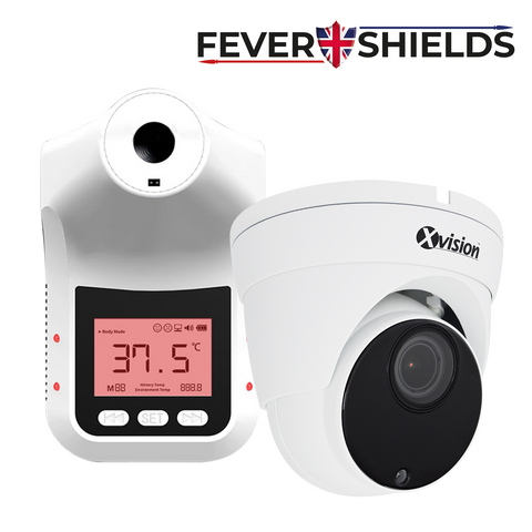 FEVERSHIELDS - Automatic Handsfree Contactless Infrared Thermometer with integrated Smart CCTV Camera<br><small>Model: FORESIGHT-CCTV</small>