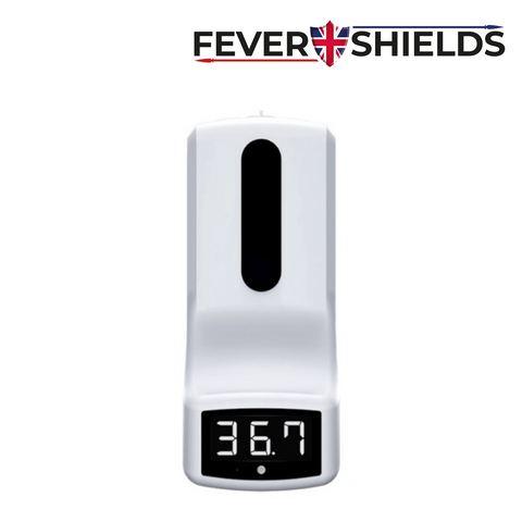 FEVERSHIELDS -  Automatic Handsfree Contactless Infrared Thermometer with integrated Handsfree Hand Sanitiser Dispenser<br><small>Model: FORESIGHT-HS</small>