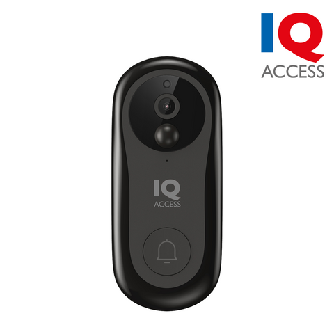 IQACCESS - Wi-Fi Smart Video Doorbell, 2MP (1080P), Battery Powered, Google & Alexa Support, microSD card slot, Black <br><small>Model: IQBELL-B</small>