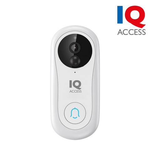 IQACCESS - Wi-Fi Smart Video Doorbell, 2MP (1080P), Battery Powered, Google & Alexa Support, microSD card slot, White<br><small>Model: IQBELL-W</small>