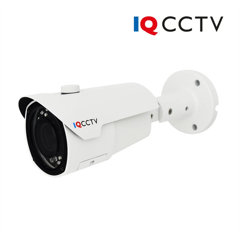 IQCCTV - 2MP 4in1 HD/Analogue Varifocal Bullet Camera, Starlight, 2.8-12mm, 40m IR, IP66, White - Clearance, 30 Day Warranty<br><small>Model: IQC1080BV-W</small>