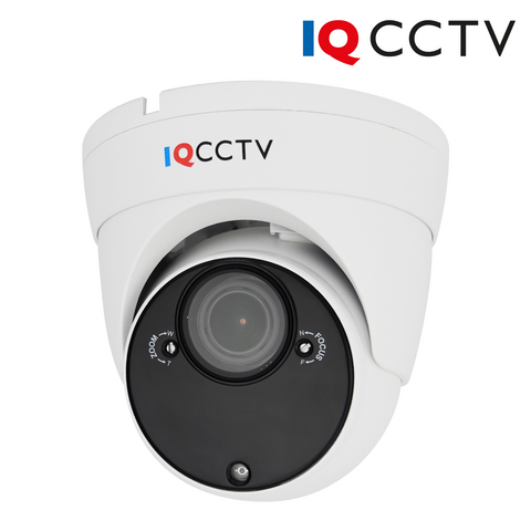 IQCCTV - 2MP 4in1 HD/Analogue Varifocal Vandal Eyeball/Turret Dome Camera, 2.8-12mm, 60m IR, IP66, White - Clearance, 30 Day Warranty<br><small>Model: IQC1080VV-W</small>