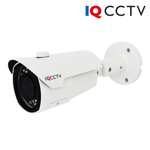 IQCCTV - 5MP 4in1 HD/Analogue Varifocal Bullet Camera, Starlight, 2.8-12mm, 40m IR, IP66, White - 1 Year Warranty<br><small>Model: IQC5000BV-W-2</small>