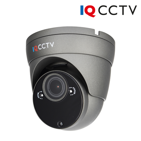 IQCCTV - 5MP 4in1 HD/Analogue Varifocal Vandal Eyeball/Turret Dome Camera, Starlight, 2.8-12mm, 60m IR, IP66, Grey - 1 Year Warranty<br><small>Model: IQC5000VV-G-2</small>