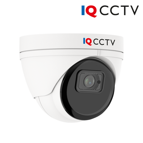 IQCCTV - 8MP (4K) 4in1 HD/Analogue Vandal Eyeball/Turret Dome Camera, Starlight, 2.8mm, 40m Smart IR, IP66, White - 3 Year Warranty<br><small>Model: IQC8000V-W</small>