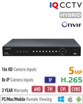 IQCCTV 5MP Lite 16 Channel Hybrid 5in1 DVR<br><small>Model: IQR5000D16H-2</small>