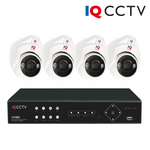 IQCCTV - 5MP HD CCTV Kit with 4 Colour Night View Eyeball/Turret Dome Cameras, 4 Camera 1TB DVR - 3 Year Warranty<br><small>Model: IQS4-5000-VC4H-1T</small>