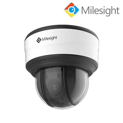 MILESIGHT - 5MP AI IP 12x Auto Tracking Mini PTZ Dome Camera, H265+, Starlight, 120dB WDR, 5.3-64mm, 120m Smart IR, Audio In/Out, Alarm In/Out, microSD slot, IP66, IK10, White<br><small>Model: MS-C5371-X12HPB</small>