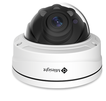 Milesight HD-IP 5MP IR Vandal Motorised Dome Camera<br><small>Model: MS-C5372-FPB</small>