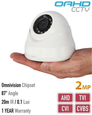 2MP 4in1 Dome Camera<br>(Model: OAHD-V-1080P-2)