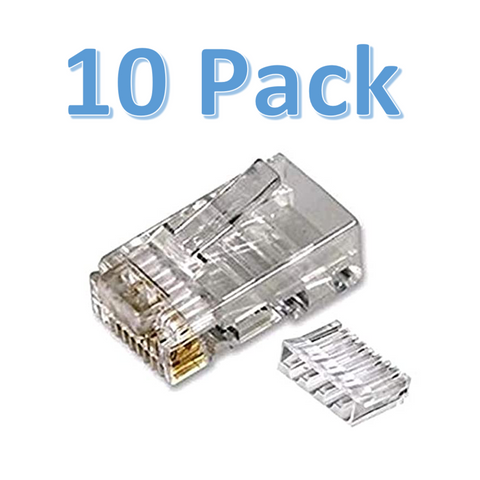 BRANDED - RJ45 Easy Fit Crimp On Plugs - Pack of 10<br><small>Model: RJ45EF-10</small>