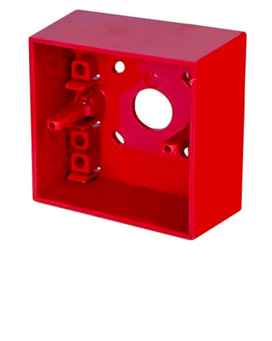 Hochiki Surface Mounting Call Point Back Box (RED)<br>(Model: SR MOUNTING BOX)