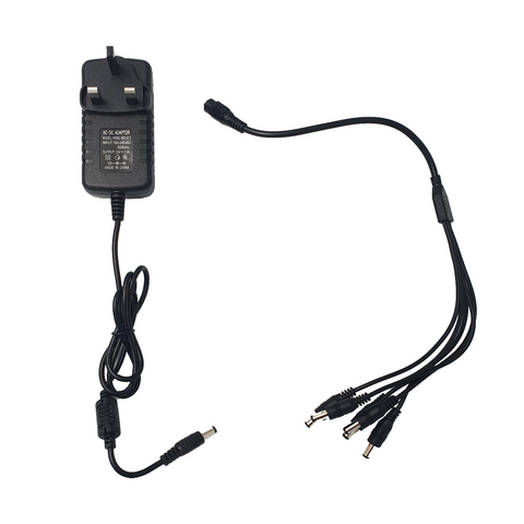 BRANDED - 12V 2000mA Multi Output/Camera Power Supply<br><small>Model: TP122000PNP</small>