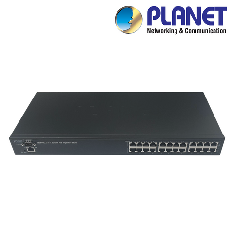 PLANET - 12 Port Power Over Ethernet Injector<br><small>Model: XIPPOEI-12-M</small>
