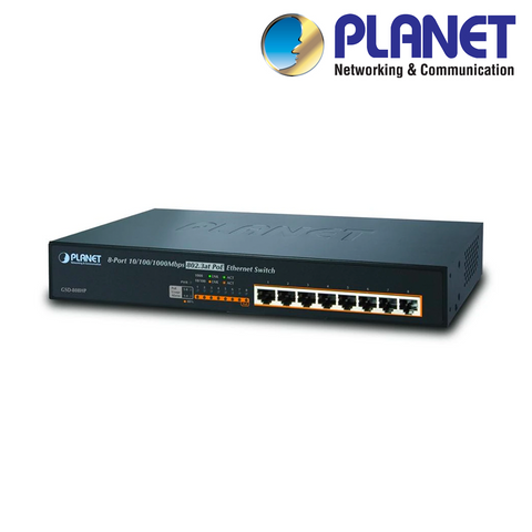 PLANET - 8-Port Gigabit PoE+ Switch<br><small>Model: XIPPOESW-8GP</small>