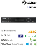 Xvision 8MP 16 Channel HD-IP NVR<br><small>Model: XN16P</small>