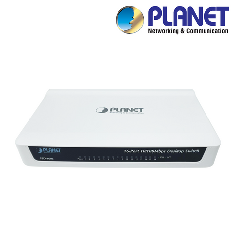 PLANET - 16-Port 10/100 Mbps Network Switch<br><small>Model: XNS16E</small>