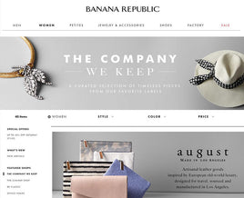 AUGUST X BANANA REPUBLIC SUM'16 ONLINE LAUNCH