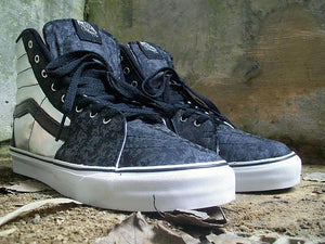 BLACKOUT REFLECTIVE VANS SK8 HI - SOLD OUT