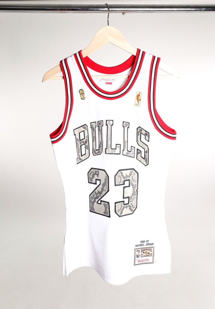 Mitchell & Ness Jersey with Python Lettering/Numbers