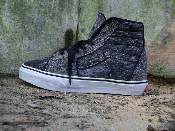 87350adbd3 theMenace Levi Black Acid Wash Vans Sk8 Hi - theMenace Designs