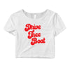 Drive Thee Boat Crop Top