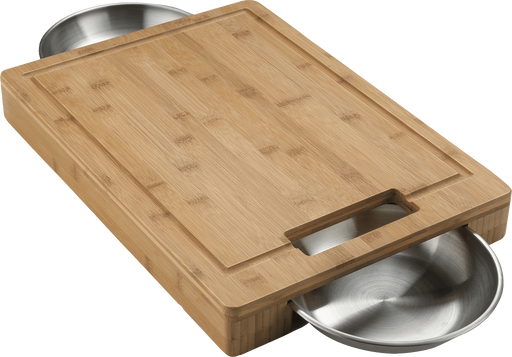 Napoleon 70012 PRO Cutting Board with Stainless Steel Bowls