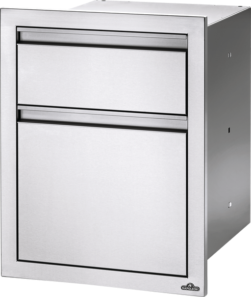 "Napoleon Built-In 18"" X 24"" Double Drawer: Large And Standard BI-1824-2DR"