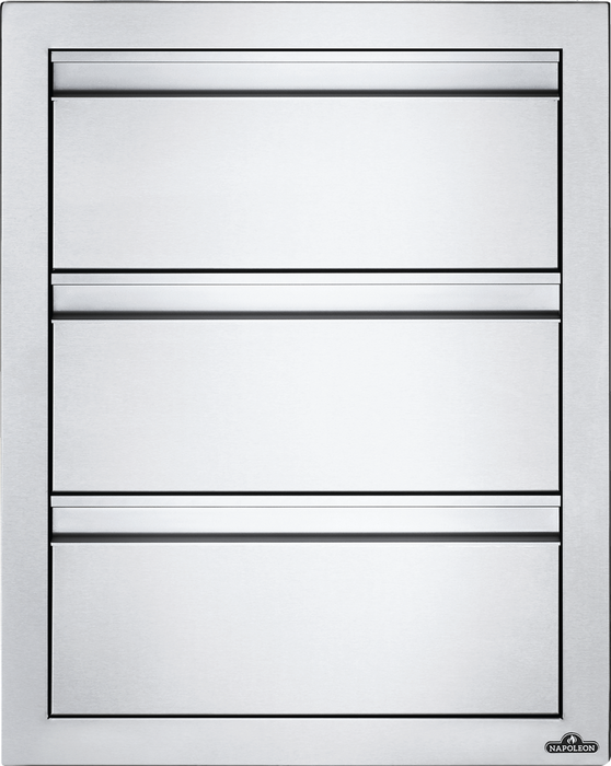 "Napoleon Built-In 18"" X 24"" Triple Drawer BI-1824-3DR"